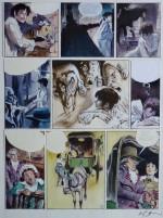 Une planche originale de « Terreur » (scénario André-Paul Duchâteau).