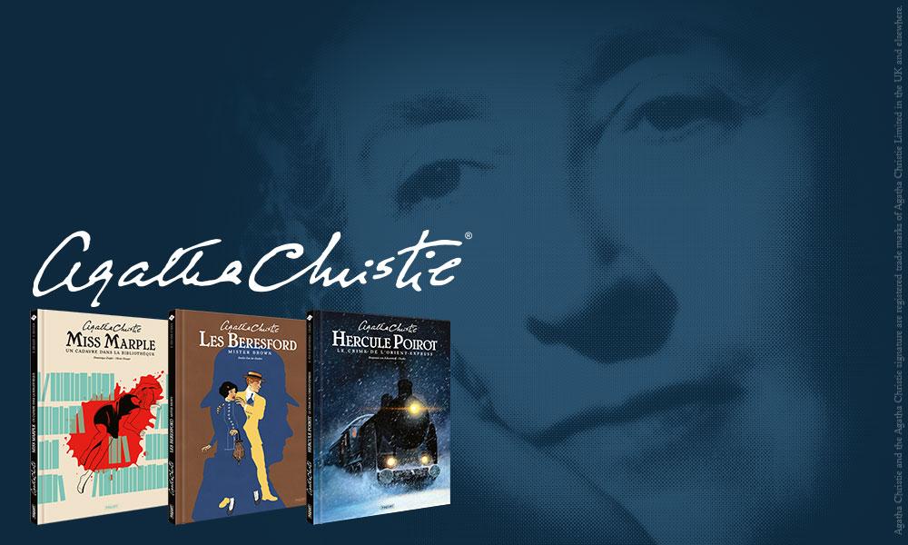 Les premiers titres de la collection Agatha Christie présentée par Paquet
