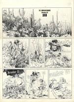 """Première planche originale par W. Vance pour """"Sur ordre de Washington"""" (encre de Chine et gouache blanche - 1991)"""
