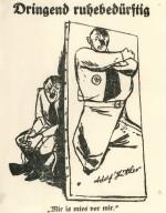 Adolf Hitler vu par Erich-Ohser, alias E. O. Plauen.