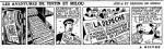 """strip inédit en album de « Tintin »par Hergé publié dans Le Soir """"volé"""" le 16 mars 1944."""