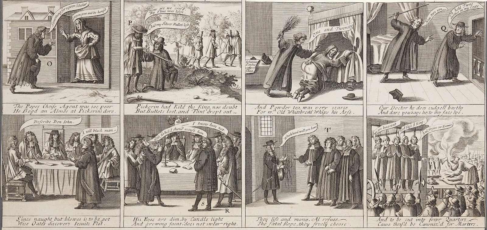 « A True Narrative of the Horrid Hellish Popish-Plot » par Francis Barlow.