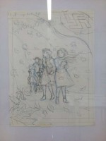 Crayonné et encrage pour le dessin de couverture