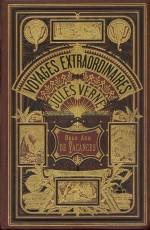 Couverture et illustration inaugurale par Léon Benett (Verne et Hetzel, 1888)