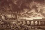 Karl Friedrich Schinkel, L'incendie de Moscou (peinture de décembre 1812 - Musée de Berlin)