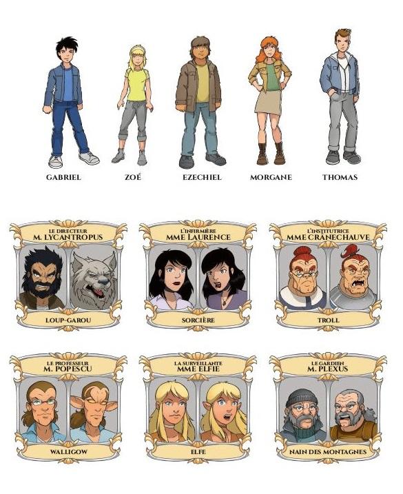 Malenfer T 1: les personnages