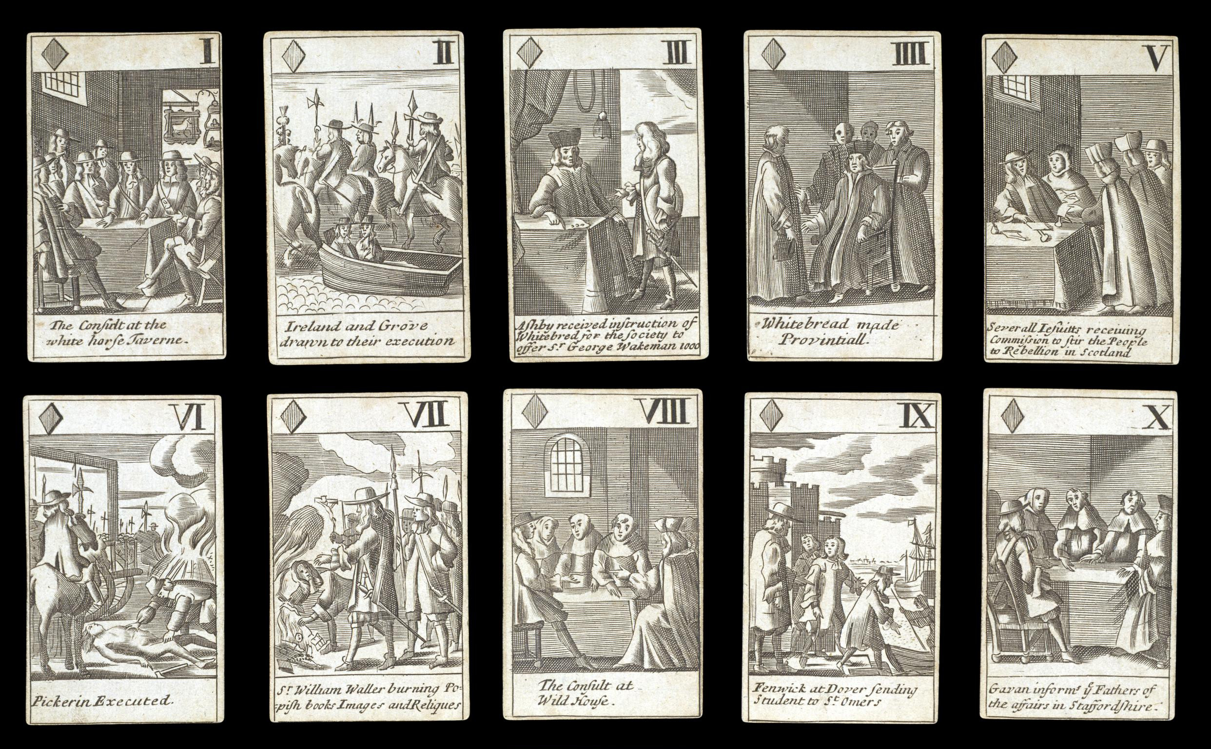 Francis Barlow's Playing Cards.