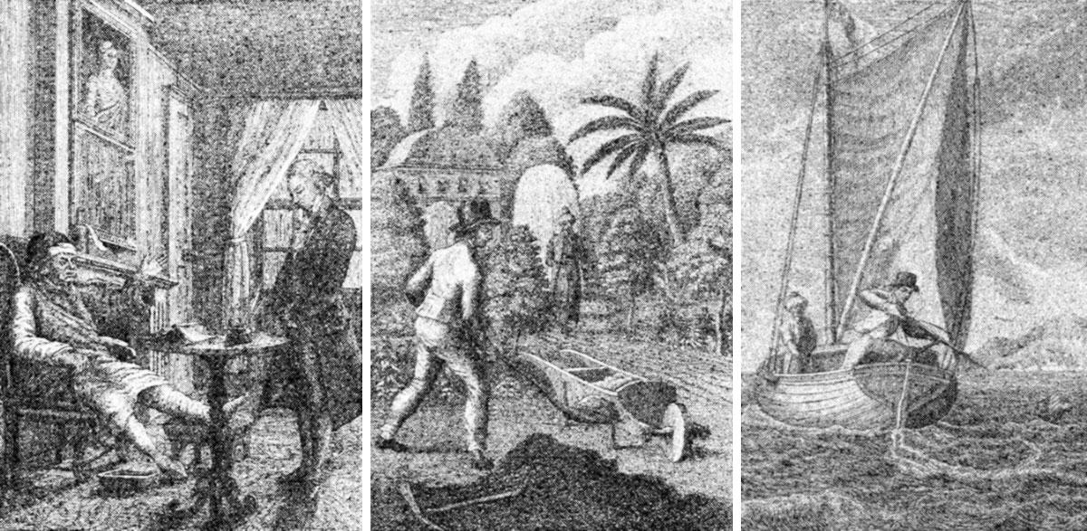 « Voyages et aventures surprenantes de Robinson Crusoé » par François Aimé Louis Dumoulin.
