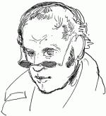 Autoportrait de Rodolphe Töpffer (vers 1844).