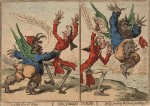 « The Tables Turn'd » par James Gillray.