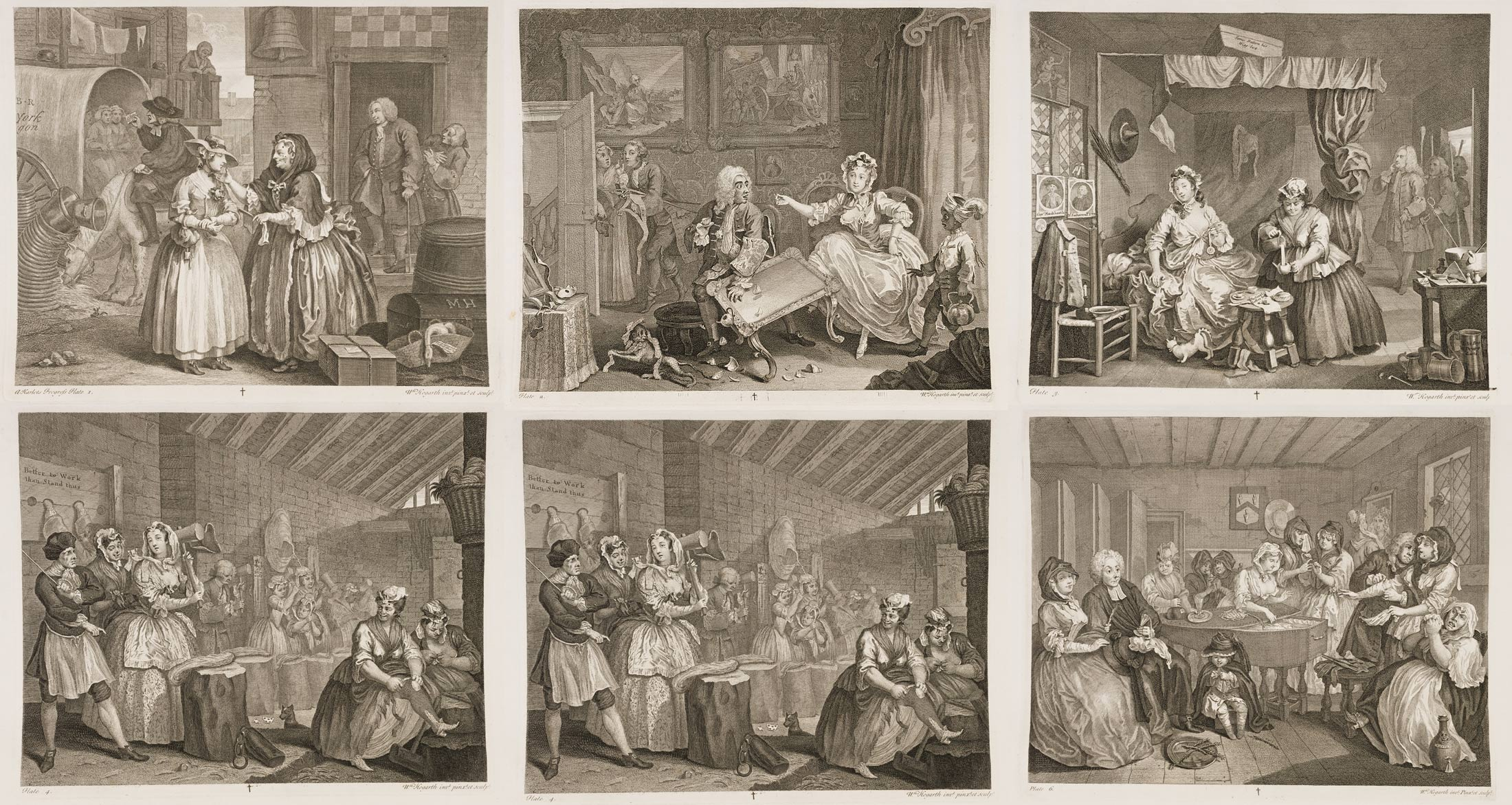 « A Harlot's Progress » par William Hogarth.