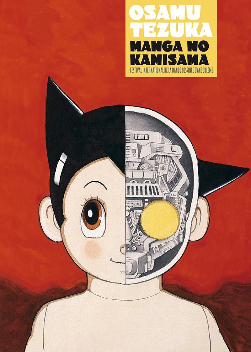 Couverture du catalogue de 160 pages reprenant les visuels de l'exposition «Manga no Kamisama» disponible à la boutique du festival et ultérieurement à celle du musée de la Bande Dessinée.