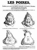 1831 : « Les Poires », dans La Caricature (France).