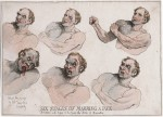 « Six Stages of Marring a Face » par Thomas Rowlandson.