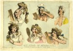 « Six Stages of Mending a Face » par Thomas Rowlandson.