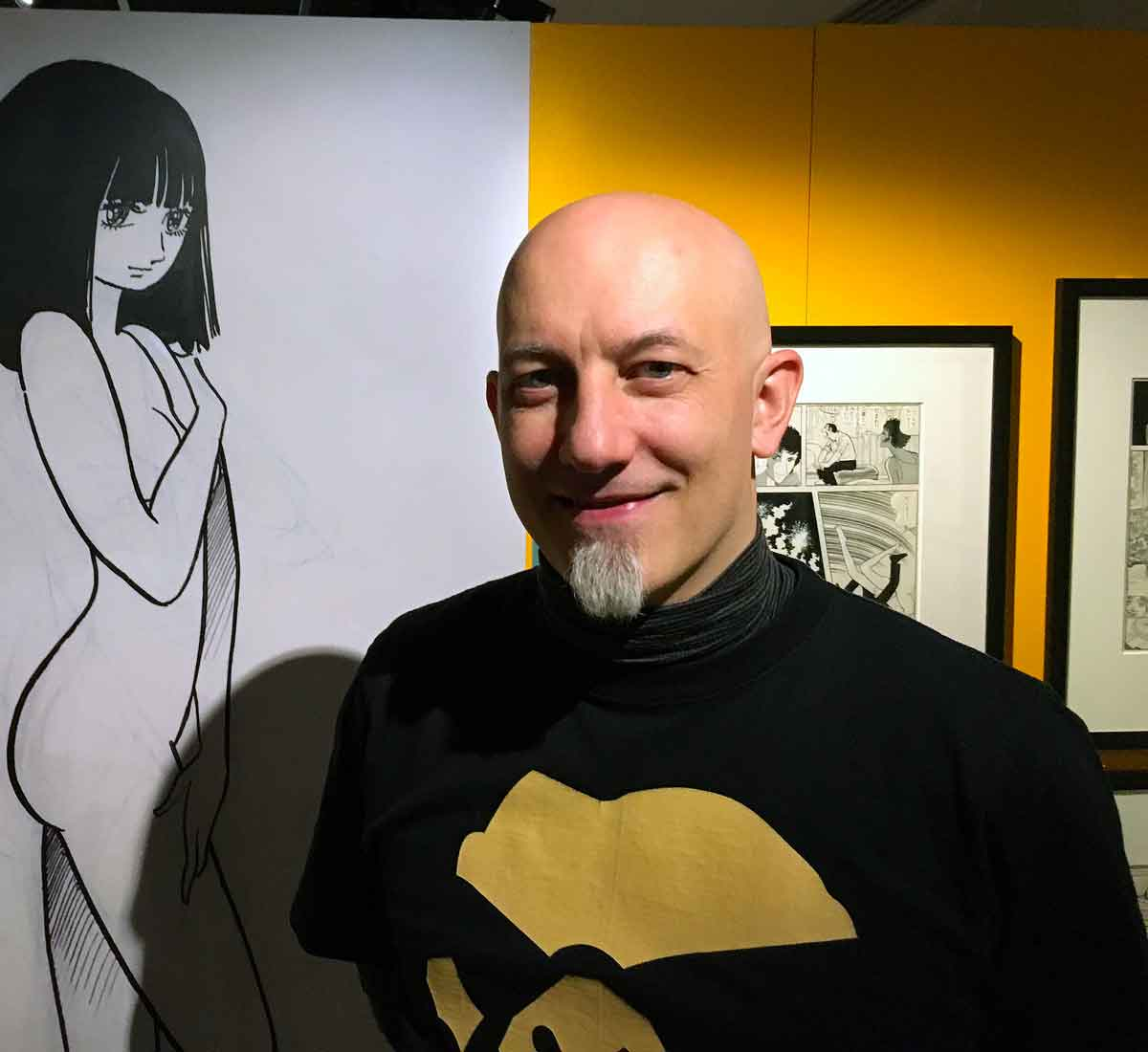 Xavier Guilbert, co-commissaire de l'exposition « Manga No Kamisama ».