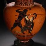 Achille tuant Penthésilée, reine des Amazones (Exékias, 6e siècle av. J.-C. - British Museum)