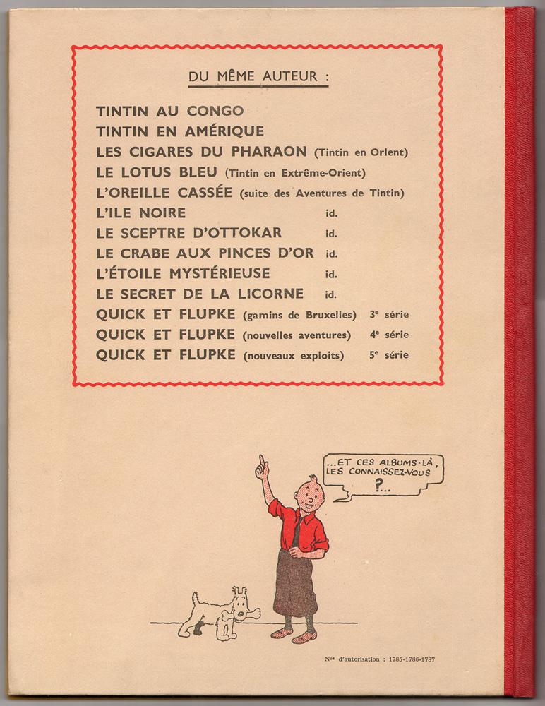 2e plat édition originale en couleurs A20 octobre 1943. Collection Philippe Dognon.