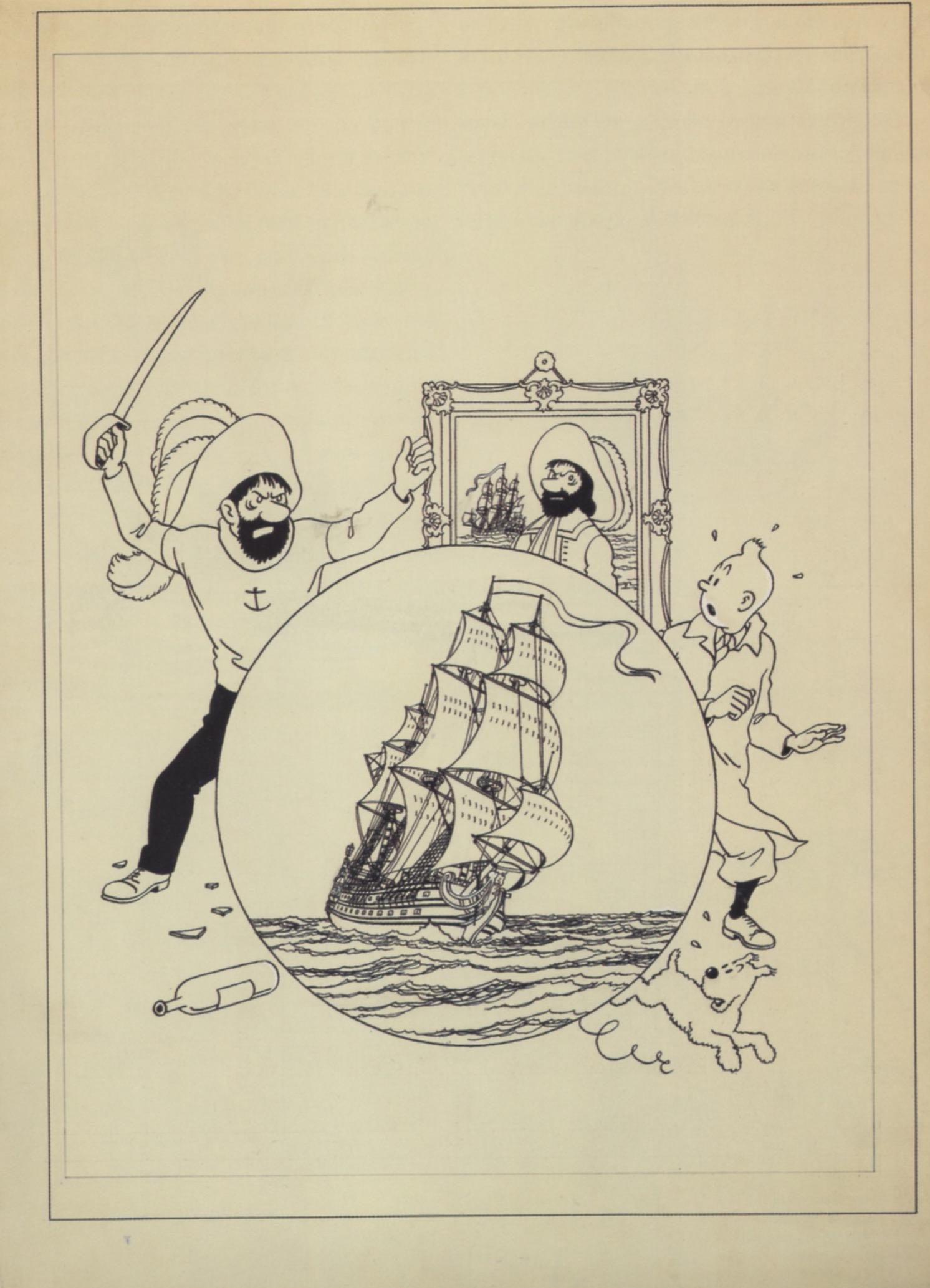 Le dessin de couverture livré par Hergé le 2 février 1943.