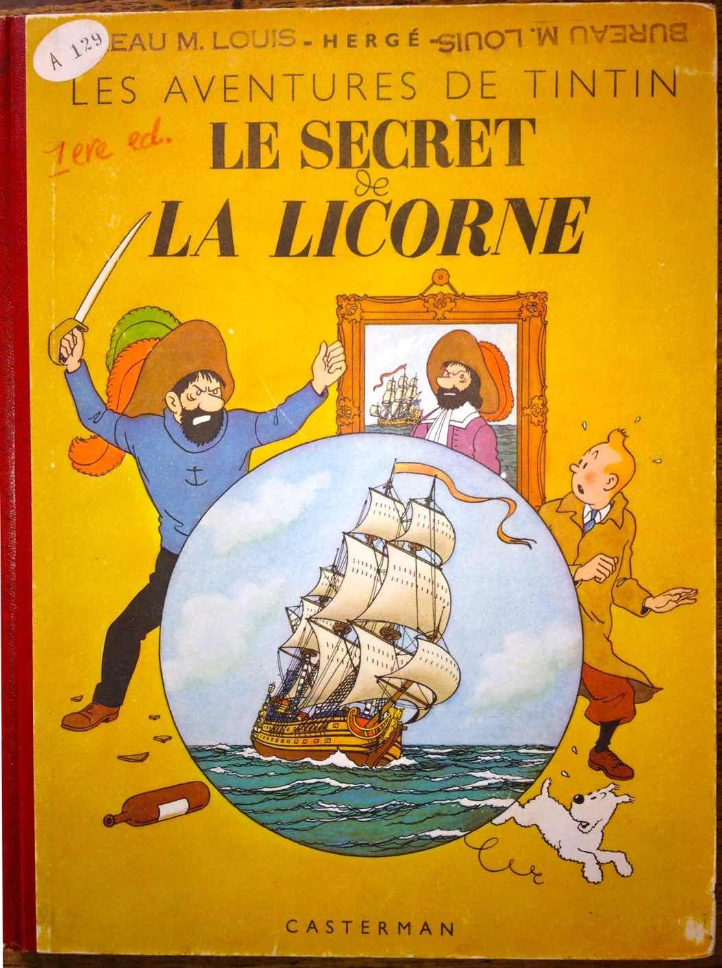 L'édition originale en couleurs conservée dans le bureau de Louis Casterman.