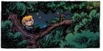 Emile dans un arbre sous la lune