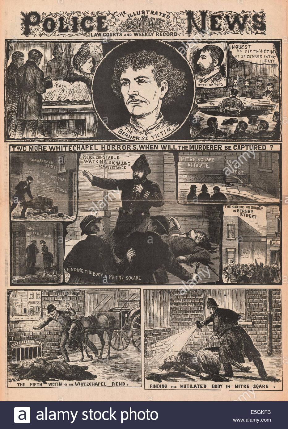 Des crimes qui font la une du Illustrated Police News en 1888