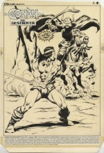 Savage Sword of Conan, issue 35: Conan the Destroyer, planche 1 par Buscema