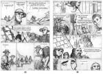 Esclaves de l'ile de Pâques crayonné pages 43 44
