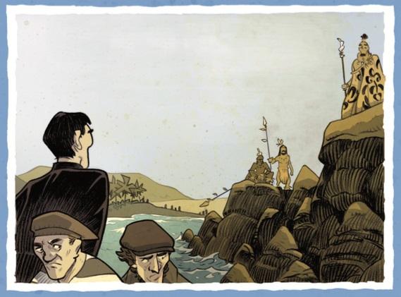 Eugène Eyraud aborde Rapa Nui