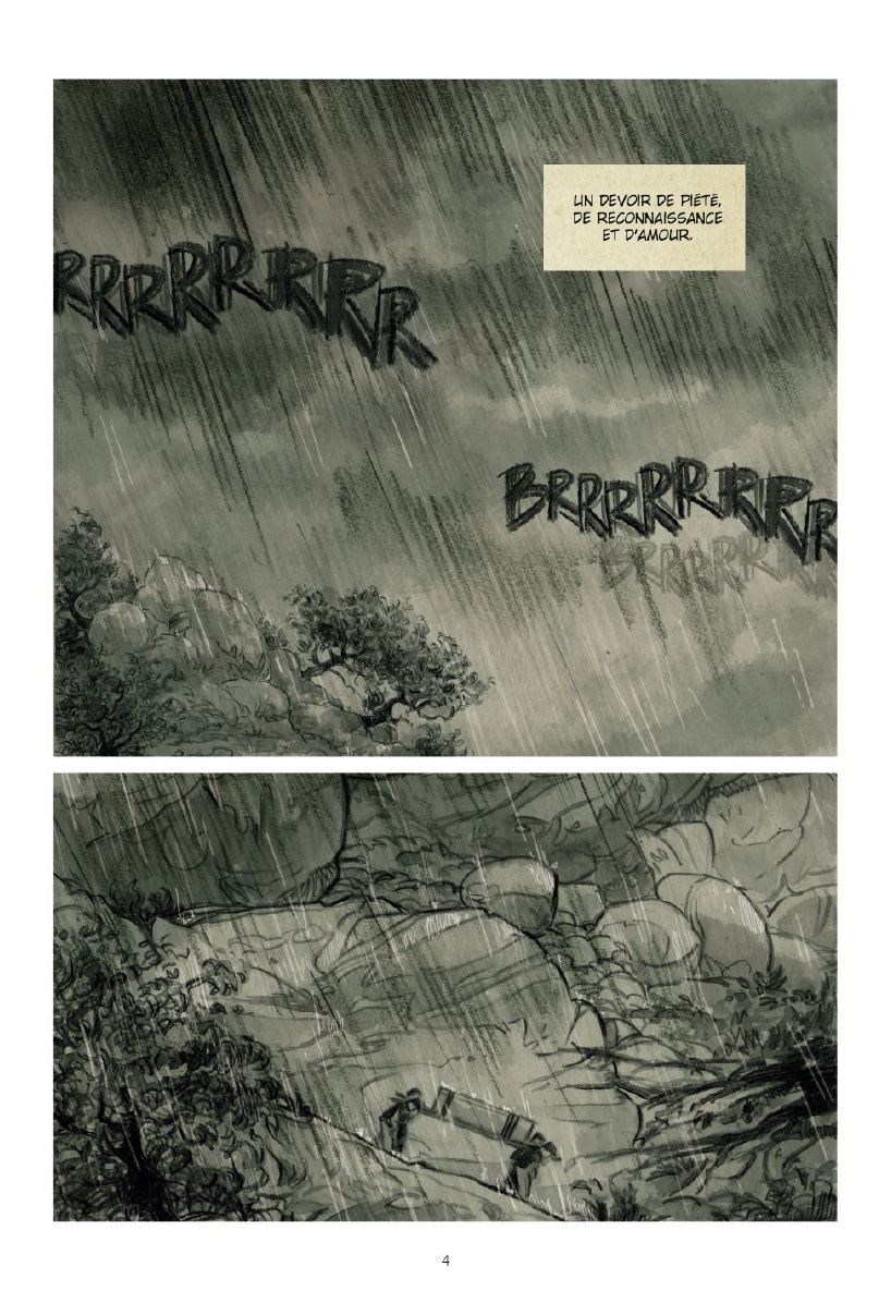 De la pluie et de la sueur (planches 2 à 4 - Glénat 2018)