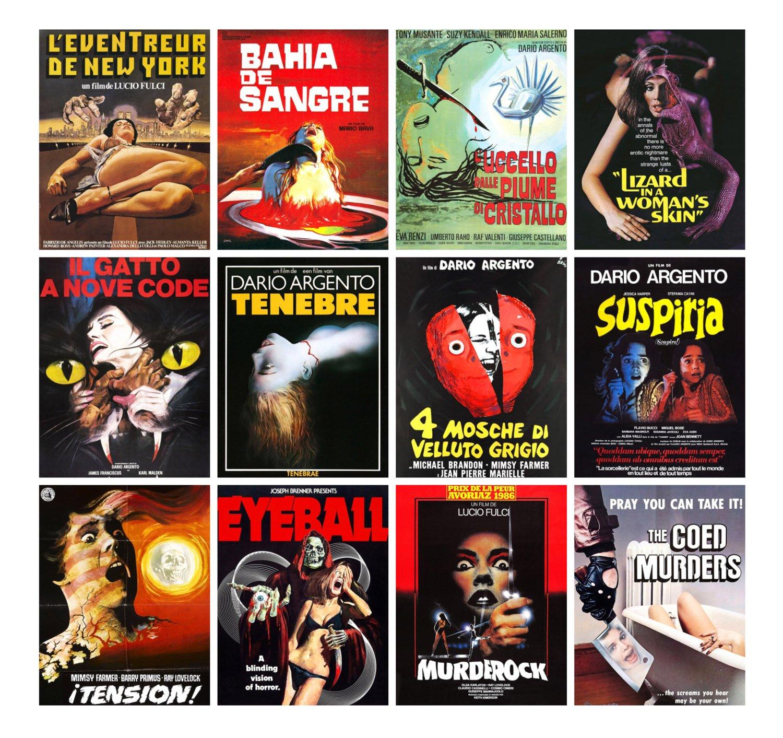 """Quelques classiques du genre, dont """"4 mouches de velours gris"""" (Argento, 1971) et """"Suspiria"""" (Argento, 1977)"""