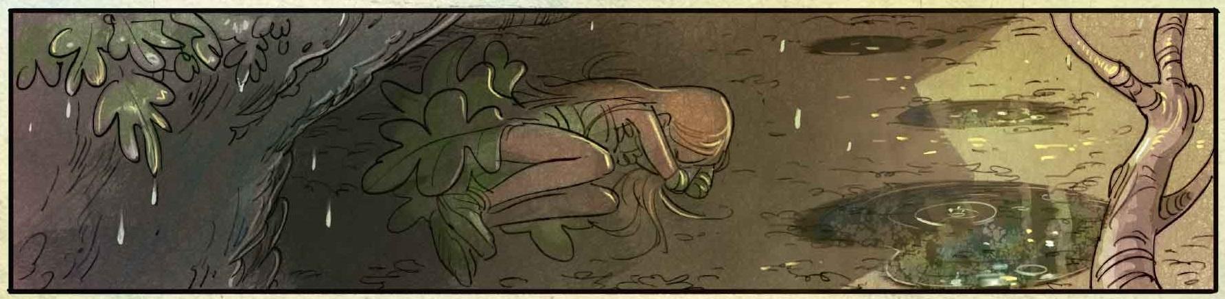 Brindille dort dans la forêt