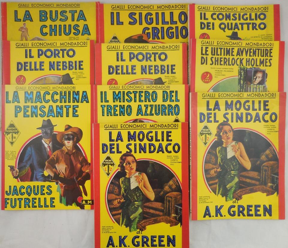 Couvertures des giallo publiés par Mondadori
