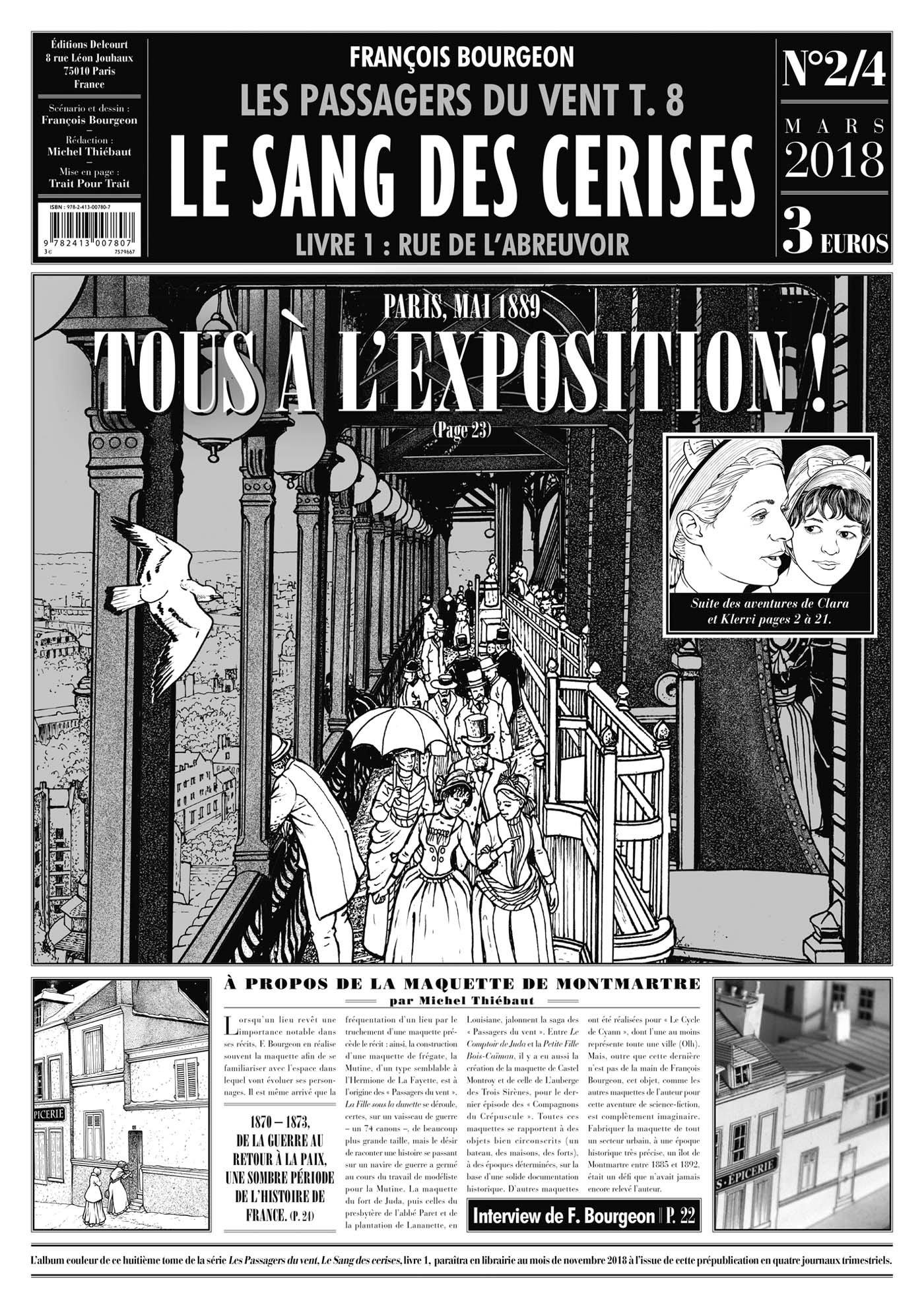 Des gazettes au Temps des cerises (Delcourt, 2017 - 2018)