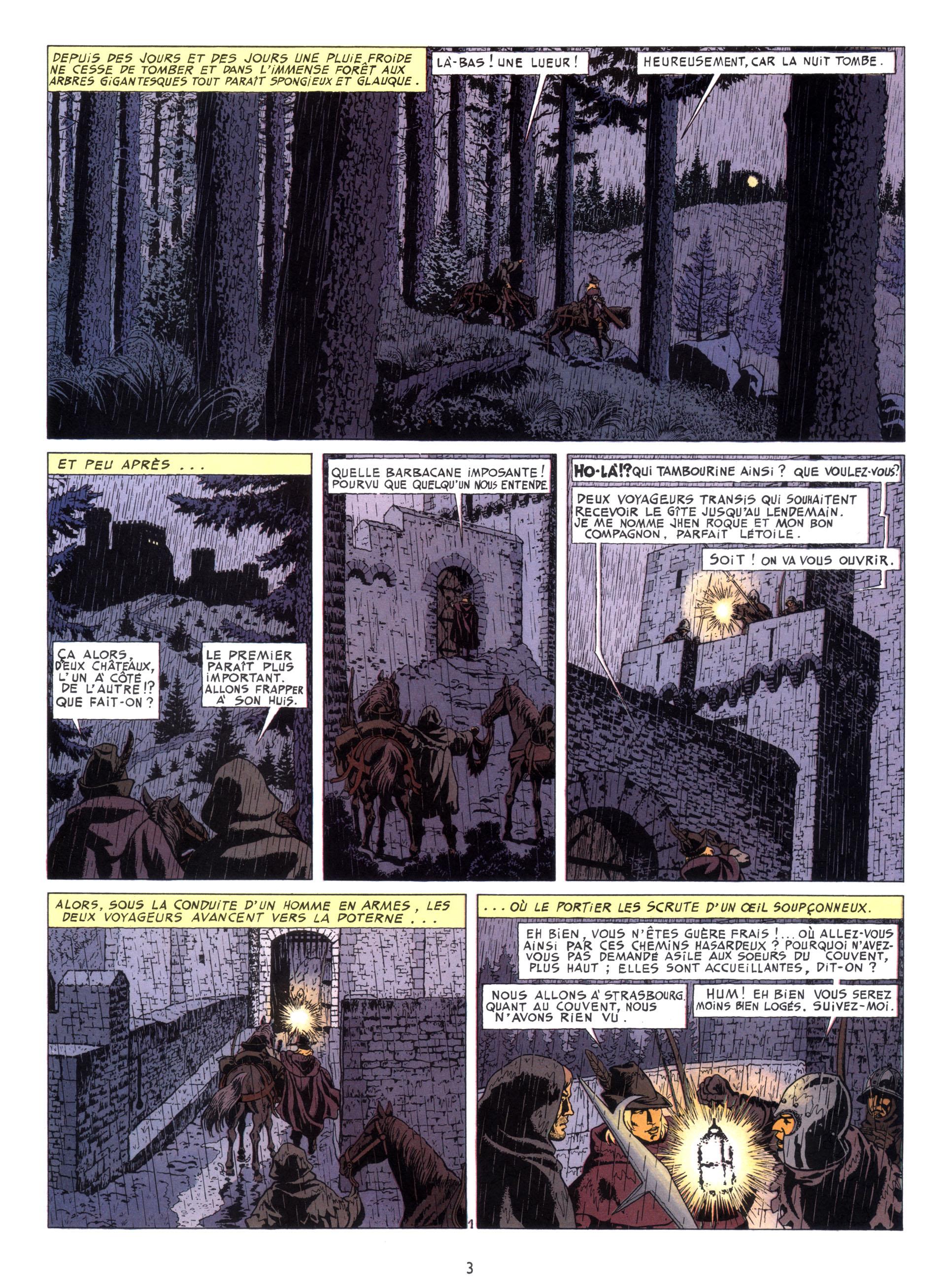 Une sombre planche introductive (Casterman 1985)