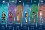 Les 6 héros de la série Mythics