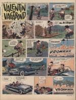 La première page de « Valentin le vagabond » publiée dans Pilote.
