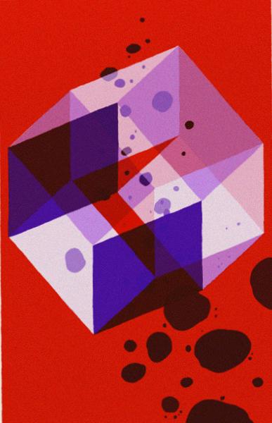 L'illustration de page de titre «Four Dim » du dernier récit, édité comme lithographie