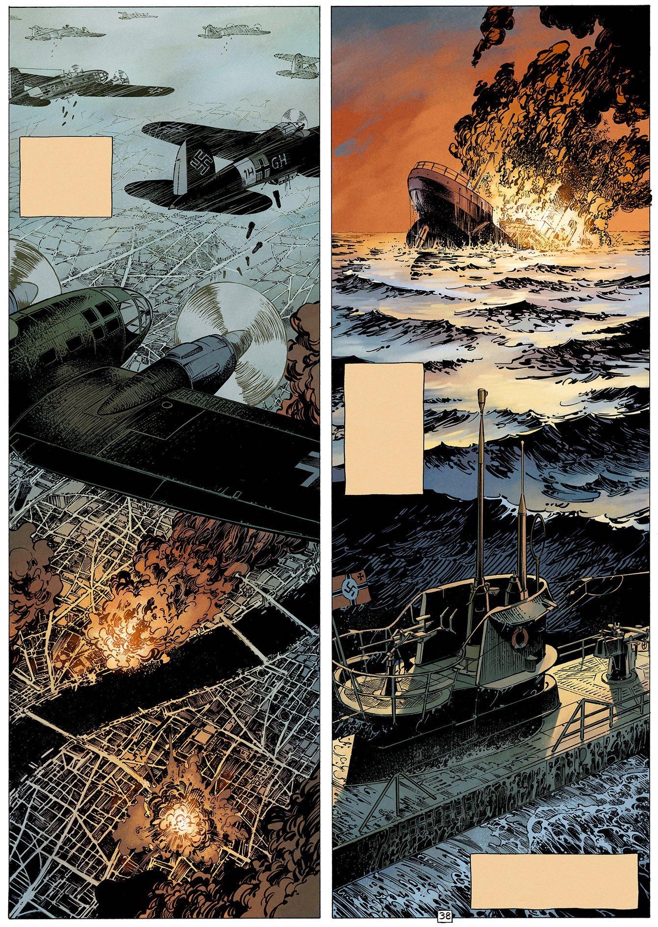 La Seconde Guerre mondiale... (mise en couleurs de planche 38 - Dupuis 2019)