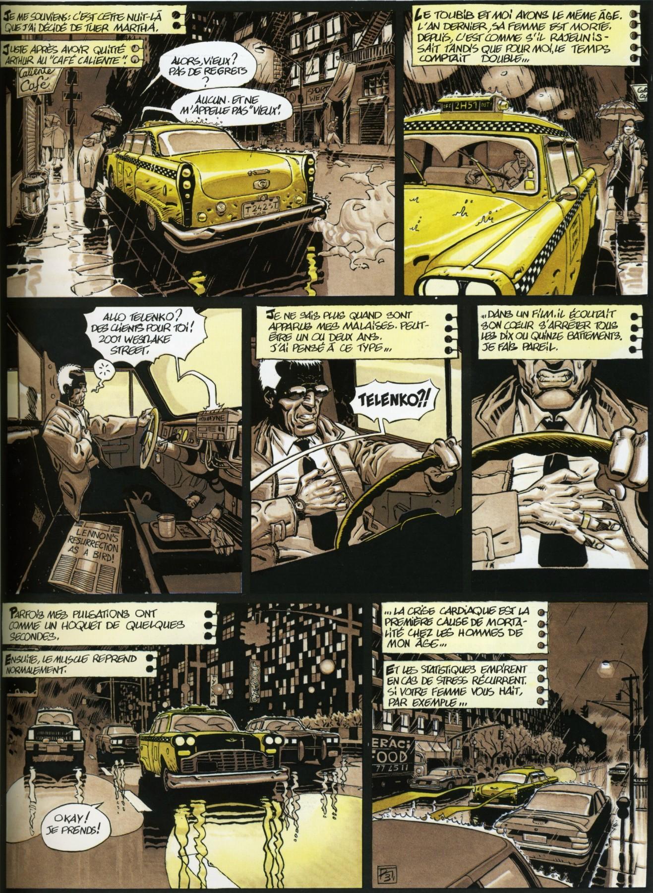 """Des envies de meurtre... (Planche 3 pour Le Coeur de Telenko"""" - Dargaud, 1997)"""