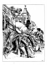 """Trouble makers"" : dessin original encré par Igor Kordey"