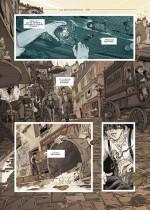 Des cadavres et une disparition... (planches 2, 3 et 6 - Delcourt 2019)