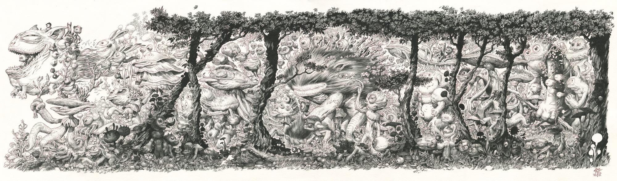 """""""Where the wild things are."""" Illustration ayant servi pour la couverture de Zoologia."""