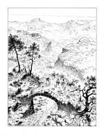 Le paradis d'Azur (encrage de la planche 28)