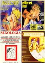 Magazines érotiques au tournant des années 1970 et 1980. Pour Elle et lui, édité par Louis Dalmas (qui finançait alors la revue d'art contemporain art press !), Hodges réalisa un feuilleton proche de la bande dessinée, une adaptation du roman Gamiani.
