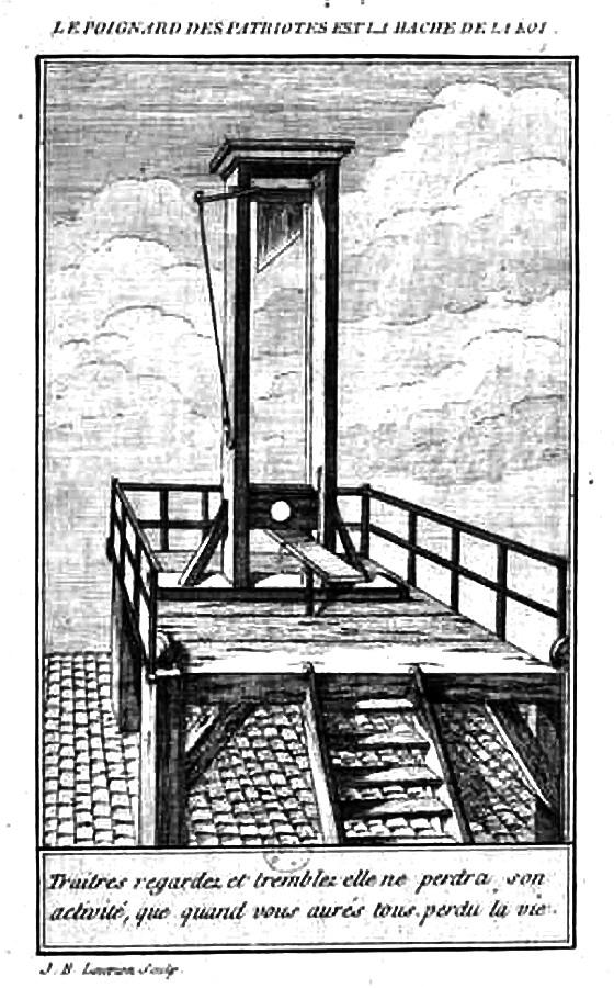 Affiche révolutionnaire menaçant de guillotiner les ennemis de la République