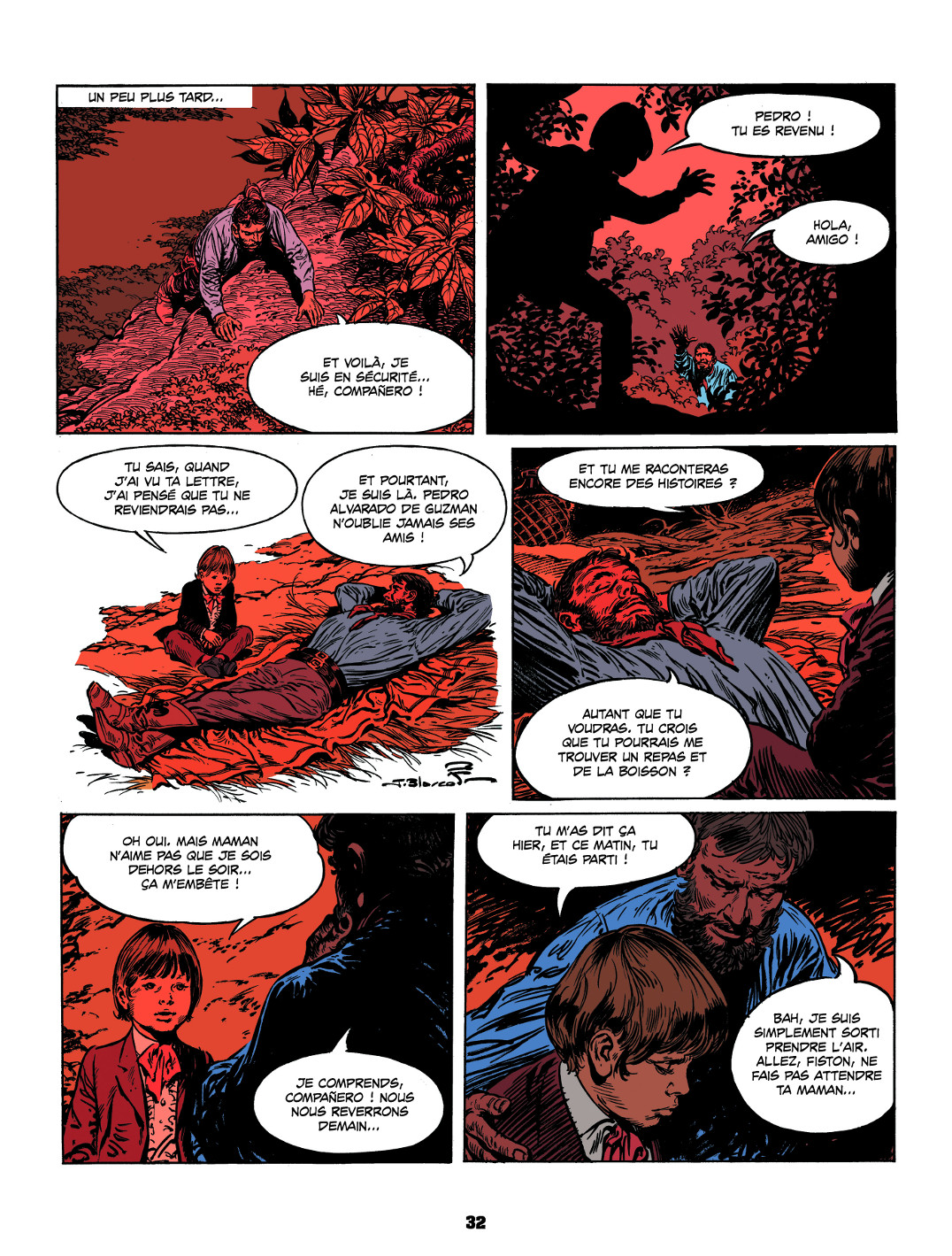 Encore une page de « Los Guerilleros » aux éditions du Long Bec.