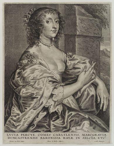 Lucy Hay, comtesse de Carlisle (1599 - 1660) ; gravure de Pieter de Bailliu