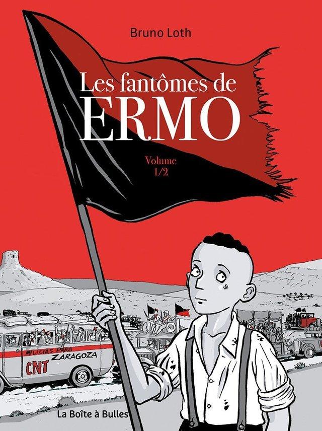 La guerre d'Espagne, déjà, avec la série Ermo, republiée en deux intégrales sous le titre Les Fantômes de Ermo en 2017 (La Boîte à Bulles