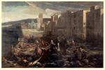 """""""Scène de la peste de 1720 à la Tourette (Marseille)"""" : le tableau de Michel Serre représente l'inhumation de 1 200 cadavres supervisée par le Chevalier Roze."""